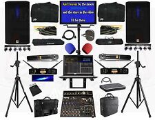 Karaoke System Professional Live Sound System, karaoke laptop, wireless mics new