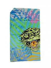 GENUINE VELOUR ED HARDY BEACH TOWEL GREEN TIGER 175CM X 105CM BNIP