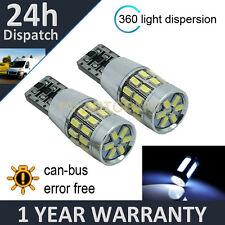 2x W5W T10 501 Canbus Nessun Errore Bianco 30 LED SMD LATO FRECCE LAMPADINE