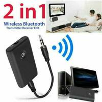 Bluetooth 5.0 Transmitter and Receiver 2-in-1 Wireless 3.5mm Adapter TOP Au J8U9