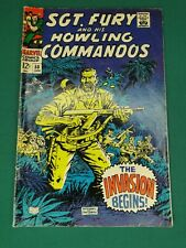 MARVEL COMICS GROUP SGT. FURY AND HIS HOWLING COMMANDOS #50 1/1968 NICE COPY