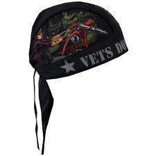 Biker Chopper Kopftuch Bandana Headwrap Vets Don`t Forget POW MIA Veteranen USA