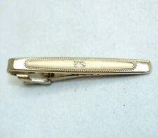 BURBERRYS Tie Clip Pin chain Bar clasp gold Men accessory vintage burberry