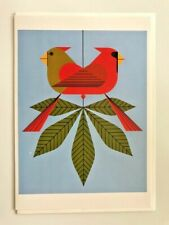 """Charley Harper Greeting Card"""" Cardinals Consorting""""  by Pomegranate New"""