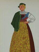 Vintage Buchenstein Tyrol Austria Woman Print 1939 26121