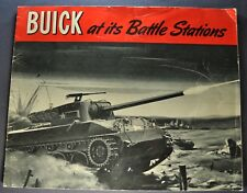 1944 Buick Battle Stations WWII Large Brochure Hellcat Tank Nice Original 44