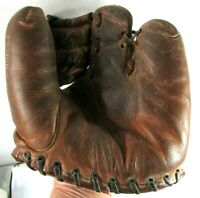 RARE Vintage Leather A2200 Wilson 2 Finger Baseball Glove Ball Hawk 1940s