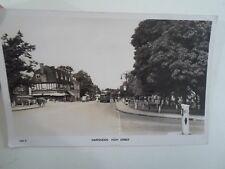 Vintage Real Photo Postcard HARPENDEN HIGH STREET Franked+Stamped 1959 - §A806