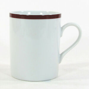 Williams-Sonoma BRASSERIE MAROON 13oz Mug Cup Japan White Porcelain