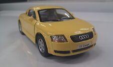 AUDI TT yellow kinsmart car model 1/32 scale diecast auto model open doors