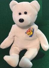 "POKEMON Waterskiing ""PIKACHU"" 2000 White TEDDY BEAR Bean Bag Plush Toy 8"" GO!"