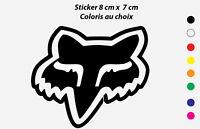 Sticker Autocollant FOX LOGO Coloris au choix