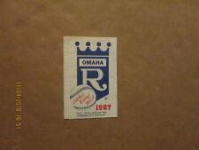 Omaha Royals Vintage Circa 1987 Team Logo Baseball Pocket Schedule