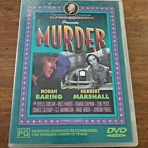 Murder DVD Norah Baring Alfred Hitchcock R4 VERY GOOD – FREE POST