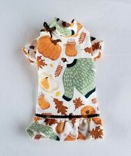 New listing Fall Pumpkins Flannel Nightgown Pajamas Dog Puppy Pet Clothes Xxxs - Large