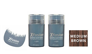 Xfusion Keratin Hair Fibers Two Pack - 2 x 15g  + FREE Hairline optimizer