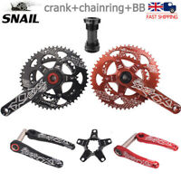 Road Bike Crankset Sprocket 110BCD 50T/35T BB Double Oval Fit Sram Shimano FSA