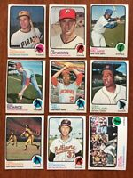 1973 TOPPS BASEBALL Pick your own Commons (15/$5) and Stars