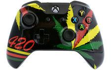 """""""Glossy 420"""" Xbox One S Custom UN-MODDED Controller Unique Design"""