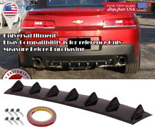 "33"" x 6"" Gloss Black Rear Bumper Valance Diffuser 7 Shark Fins For Honda Acura"