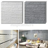 1/5PCS 70X77cm 3D Tile Brick Wall Sticker Self-adhesive Waterproof Foam Panel