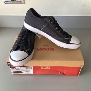 Men's Levi's Stan Buck C Sneaker US 10 UK 9 Black Denim Shoes New