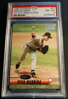 1993 MIKE MUSSINA STADIUM CLUB 1ST DAY PRODUCTION #77 PSA 8 ORIOLES POP 2 (210)