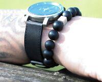 Onyx matt 925er sterling Silber Armband Bracelet Perlenarmband schwarz 12 mm