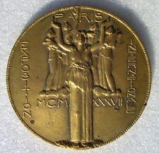 MEDAILLE EXPOSITION ARTS & TECHNIQUES PARIS 1937 Dammann PNEUS GOODRICH-COLOMBES