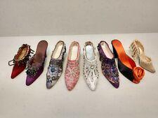 Miniature Fabric Costume Shoes - Set of 8