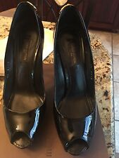 Authentic Louis Vuitton Open Toe Pump Black Size 6 (36)