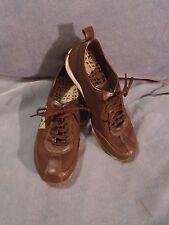 Women's Merrell Dark Brown Leather & Mesh Samba Fashion Sneakers Size 6 M
