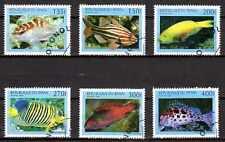 Poissons Bénin (26) série complète de 6 timbres oblitérés