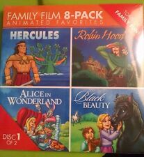 NEW FAMILY 8 PACK OF ANIMATED FAVORITES MOVIES Hercules Robin Hood Black Beauty