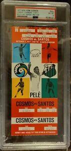 Pele 1977 Last Game Full Ticket Cosmos v Santos Giants Stadium PSA 6 Soccer GOAT