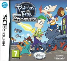 PHINEAS AND FERB ACROSS THE 2ND DIMENSION for Nintendo DS - with box & manual