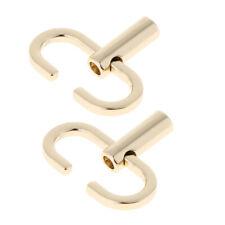 2pcs Handbag Shoulder Bag Purse Chain Strap Adjustable Buckle Hook Clip Gold
