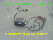 ford transit custom fuse box with harness - fits vans 2013-16