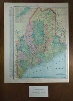 "1903 MAINE Vintage Map 11""x14"" ~ Old Antique Original BIDDEFORD BREWER WESTBROOK"
