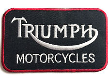 VINTAGE TRIUMPH MOTORCYCLES PATCH embroidered cotton iron on big motorbike badge