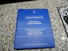 1983 USA FERRARI MONDIAL 308 FACTORY WORKSHOP MANUAL 995990822  281/83