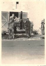 Deutsche Soldaten Feld - Geschütz in Frankreich