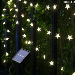 50/100 LED Solar String Lights Star Fairy Light Patio Garden Party Outdoor Decor