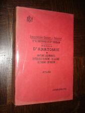 PRECIS D'ANATOMIE - Dr R. Grégoire et Dr Oberlin 1926