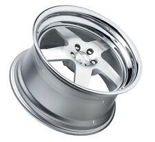 18X9.5 +30 Klutch SL5 5x114.3 Silver Wheel Fits Ford Mustang Gt Wrx Sti 5X4.5