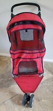 Red/black Dog Stroller For Small Pets