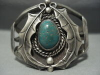 QUALITY!! VINTAGE NAVAJO ROYSTON TURQUOISE STERLING SILVER BRACELET