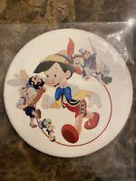 "Vintage Disney Pinocchio Jiminy Cricket Geppetto  Figaro 3"" Pin Back Button"