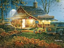 White Mountain Jigsaw Puzzle Autumn Traditions Terry Redlin Art Cabin 300 Pieces