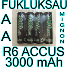 8 x PILES AA | PILES ACCUS RECHARGEABLE MIGNON 3000mAh Ni-MH 1,2V R6 LR06 NEW